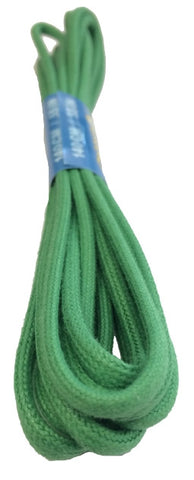 Round Waxed Green Cotton Shoe Laces