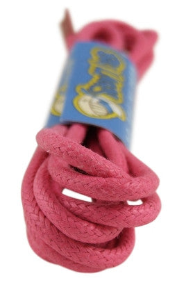 Round Waxed Hot Pink Cotton Shoe Boot Laces