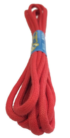 Round Waxed Red Cotton Shoe Laces