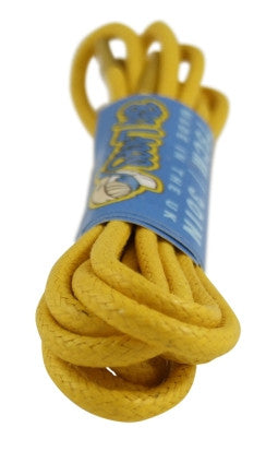Round Waxed Yellow Cotton Shoe Boot Laces