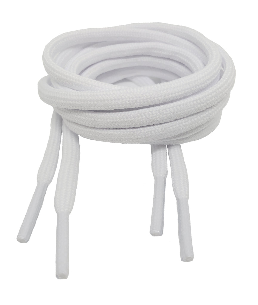Round White 5mm wide Laces