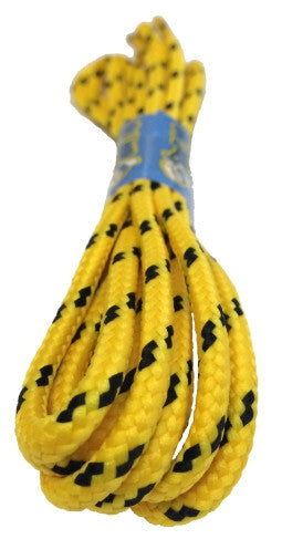 Round Yellow and Black Bootlaces