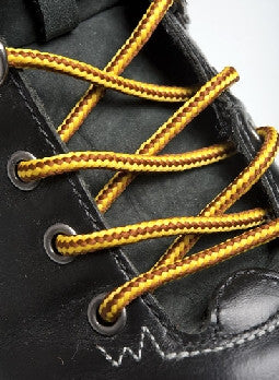 Round Yellow and Brown Bootlaces