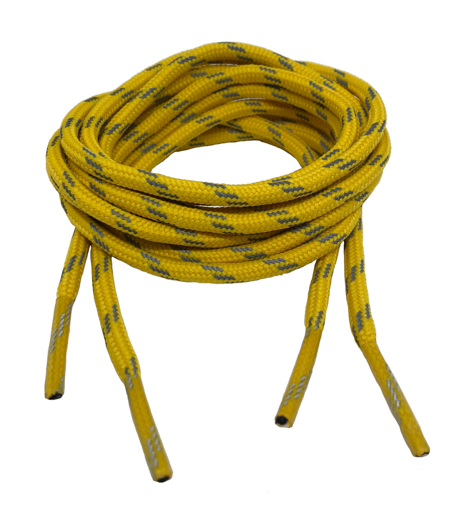 Round Yellow Reflective Bootlaces
