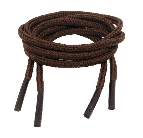 Round Brown Shoe Boot Laces - 3mm wide