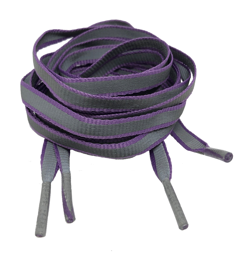 Flat Reflective Lilac Shoelaces