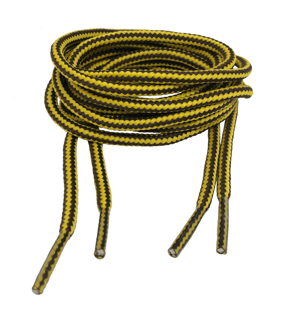 Round Brown Yellow Bootlaces