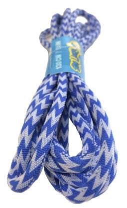 Round Zagged Blue White Shoelaces