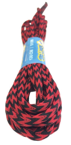Round Zagged Red Black Shoelaces