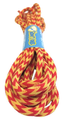 Round Zagged Red Yellow Shoelaces
