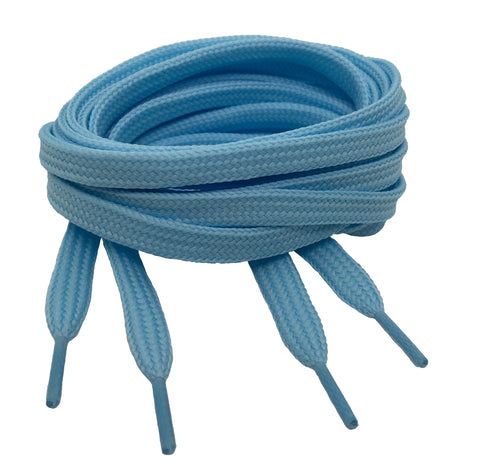 Flat Baby Blue Shoelaces