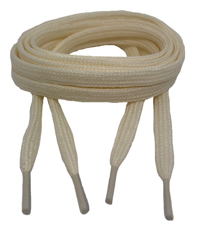 Flat Cream Shoelaces - 7mm wide