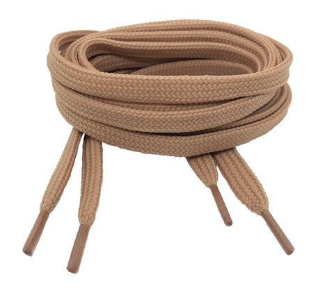 Flat Dark Beige Shoelaces