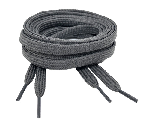 Flat Grey Shoelaces