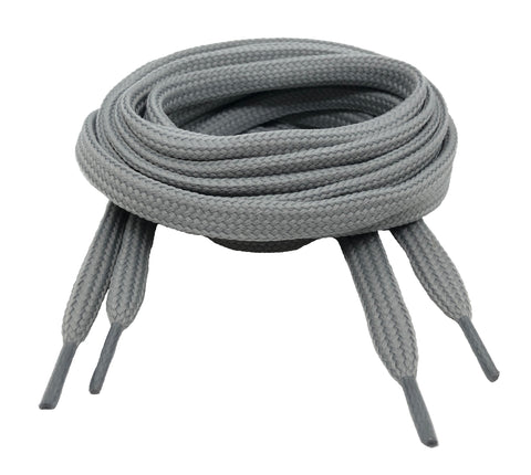 Flat Light Grey Shoelaces
