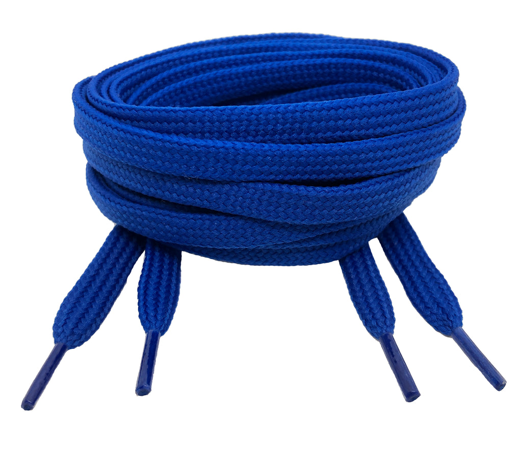 Flat Royal Blue Shoelaces