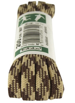 Strong Flat Brown and Sand Walking Boot Laces