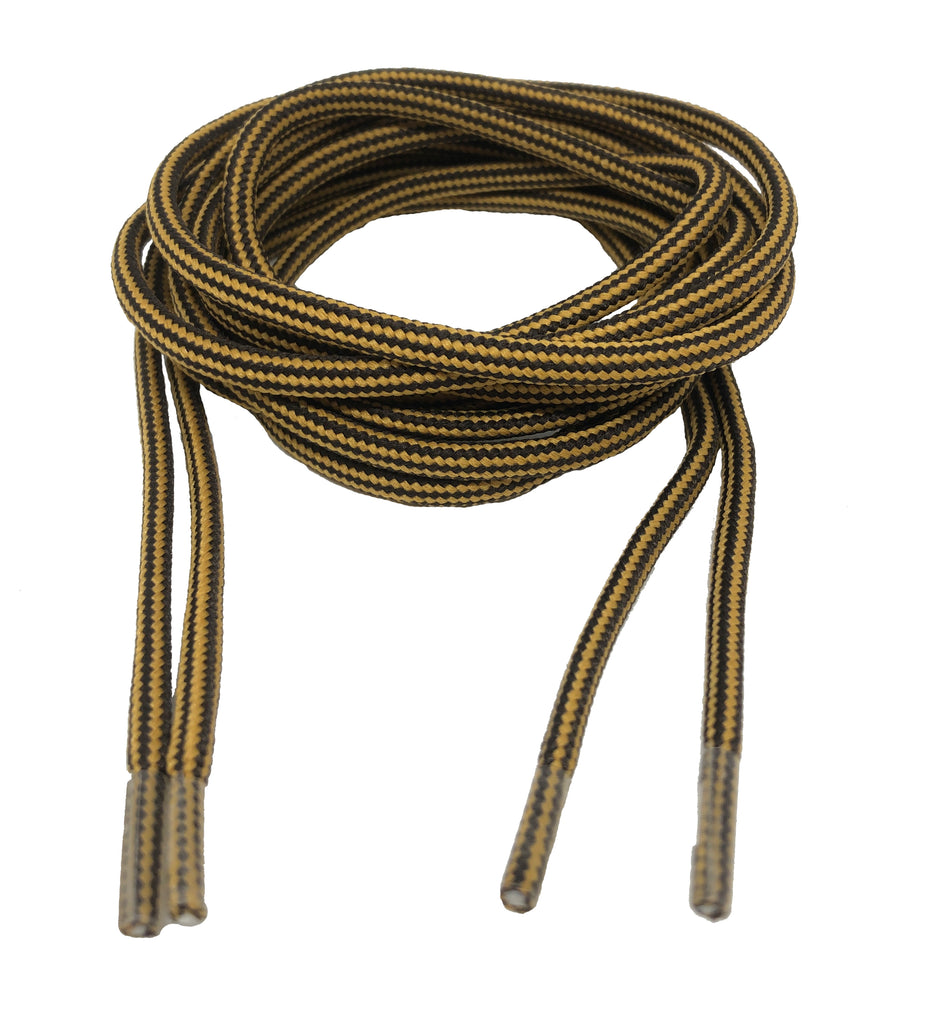 Round Strong Shoelaces/Bootlaces Mustard Brown - 4mm wide