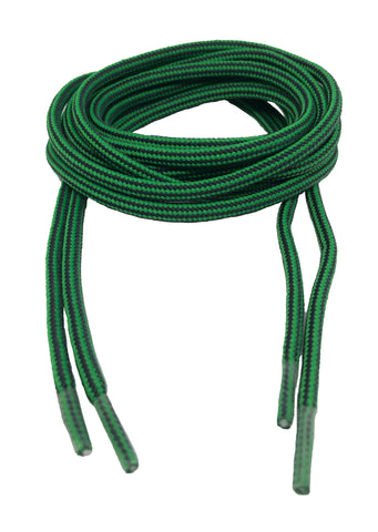 Round Strong Shoelaces/Bootlaces Green Charcoal - 4mm wide