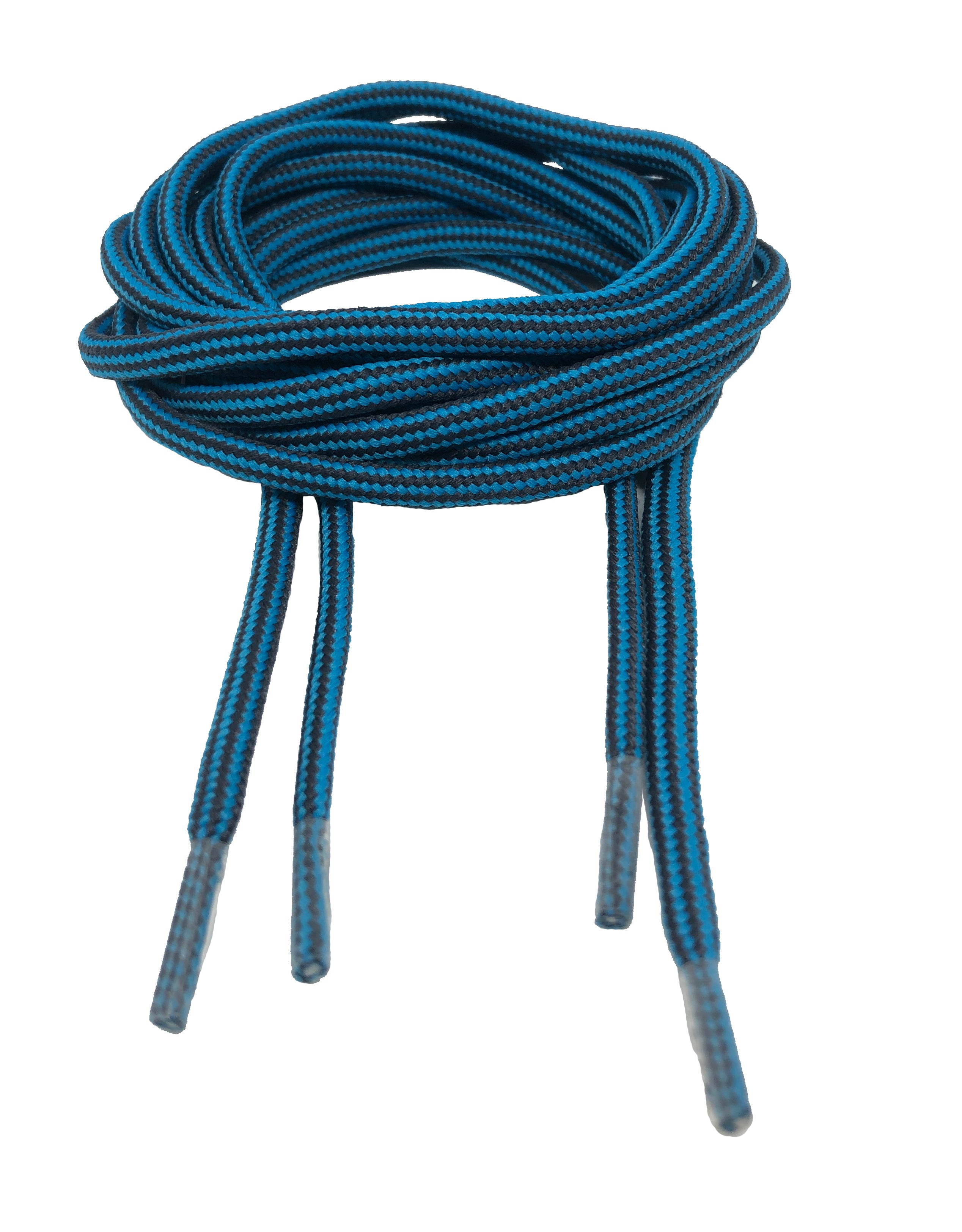 Round Strong Shoelaces/Bootlaces Blue Charcoal - 4mm wide