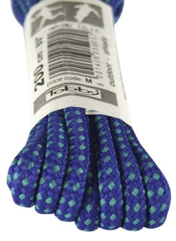 Strong Round Blue and Turquoise Walking Boot Laces