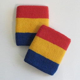 Red Yellow and Blue Sports Quality Wristbands