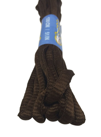 Chocolate Brown Oval Running Shoe Shoelaces