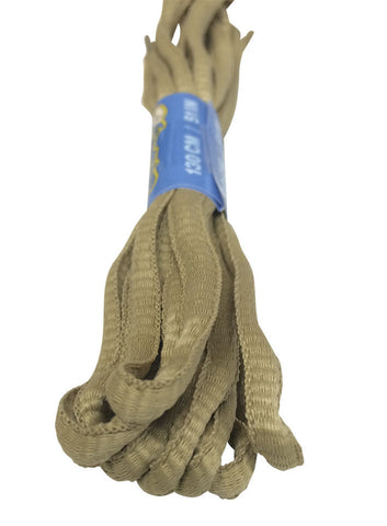 Oatmeal Oval Running Shoe Shoelaces