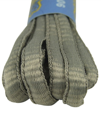 Light Grey Oval Running Shoe Shoelaces