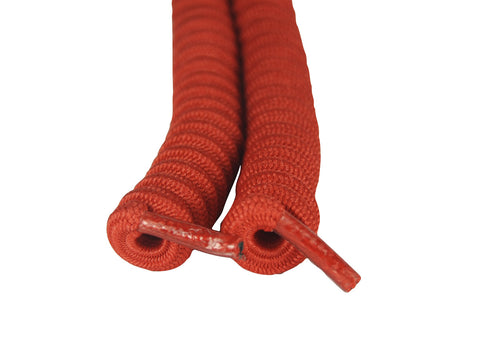 Curly Red Shoelaces