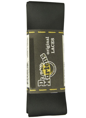 Dr Martens Flat Black Ribbon Laces