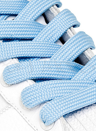 Fat Baby Blue Shoelaces - 13mm wide