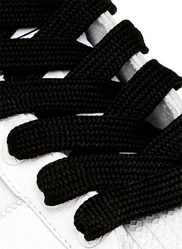 Fat Black Shoelaces - 13mm wide