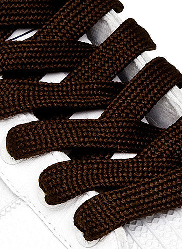 Fat Brown Shoelaces - 13mm wide