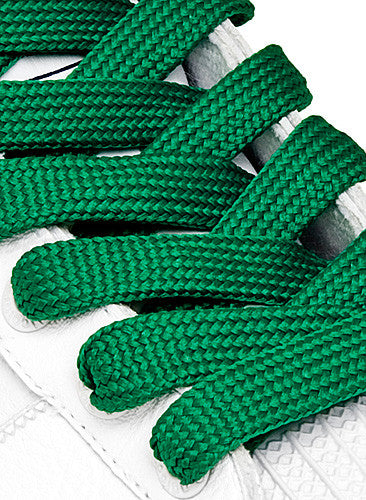 Fat Green Shoelaces - 13mm wide
