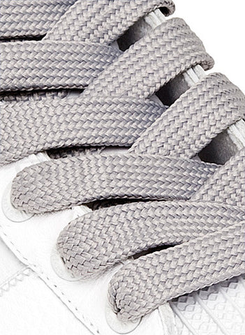 Fat Grey Shoelaces - 13mm wide