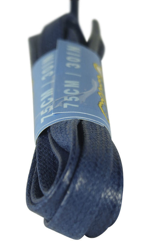 Flat Waxed Dark Blue Cotton Shoe Boot Laces