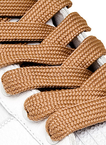 Fat Light Brown Shoelaces - 13mm wide
