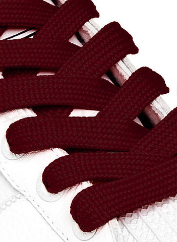Fat Maroon Shoelaces - 13mm wide