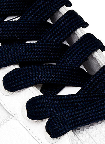 Fat Navy Blue Shoelaces - 13mm wide