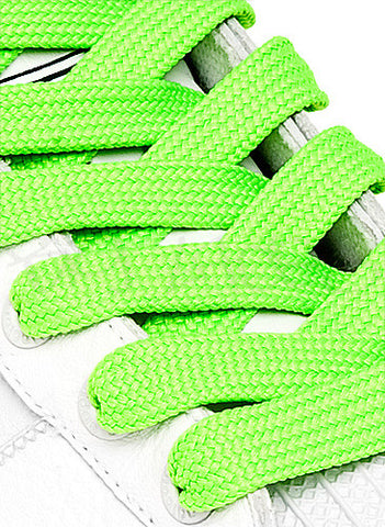 Fat Neon Green Shoelaces - 13mm wide