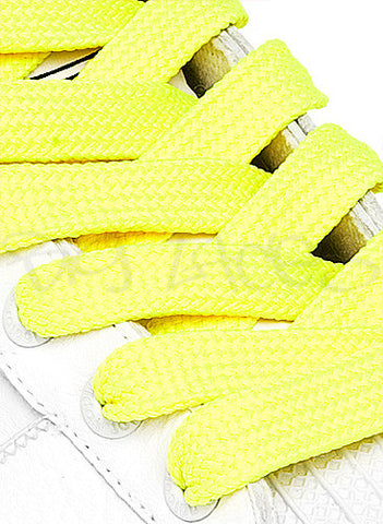 Fat Neon Yellow Shoelaces - 13mm wide