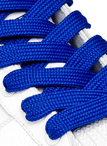 Fat Royal Blue Shoelaces - 13mm wide