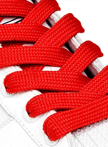 Fat Red Shoelaces - 13mm wide