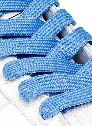 Fat Sky Blue Shoelaces - 13mm wide