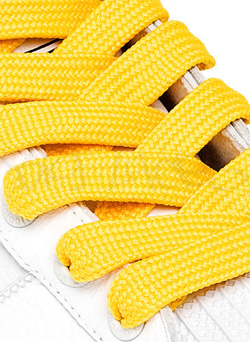 Fat Yellow Shoelaces - 13mm wide