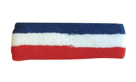 Red White and Blue Sports Quality Headband