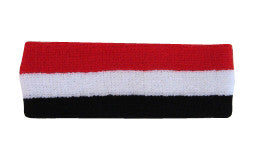 Black White and Red Sports Quality Headband