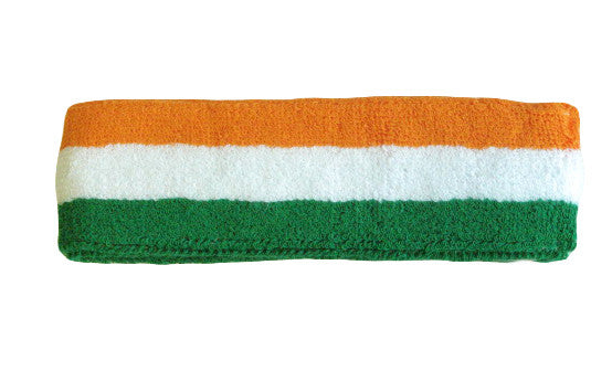 Green White and Orange Sports Quality Headband