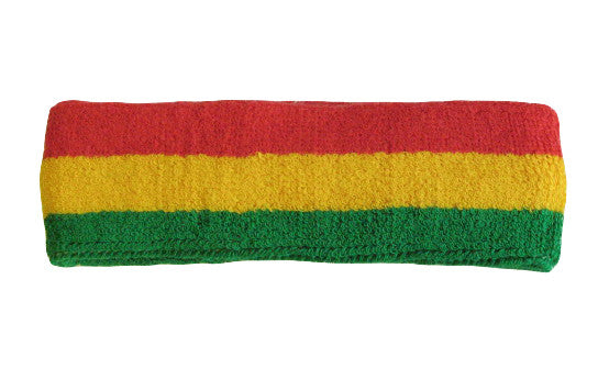 Green Yellow and Red Sports Quality Headband